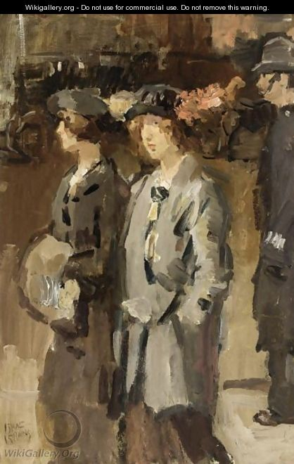 Two Cockney Girls, London - Isaac Israels