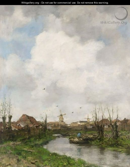 Landscape Near The Hague - Jacob Henricus Maris