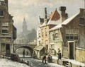 A View Of A Dutch Town In Winter - Willem Koekkoek