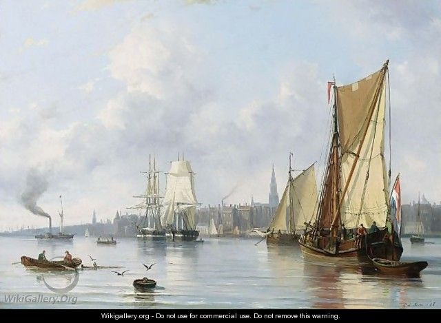 Shipping on the IJ, by Everhardus Koster   Museum Art