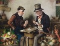 A Game Of Cards - Hermann Kern