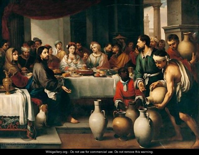 The Marriage Feast At Cana - (after) Murillo, Bartolome Esteban