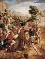 Christ On The Road To Calvary - Netherlandish School