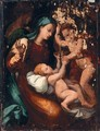The Madonna And Child With The Infant Saint John The Baptist - (after) Perino Del Vaga (Pietro Bonaccors)