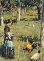 Feeding The Chickens - English School