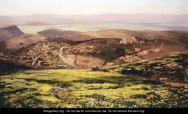 View Of A Town In The Middle East - Stanley Inchbold