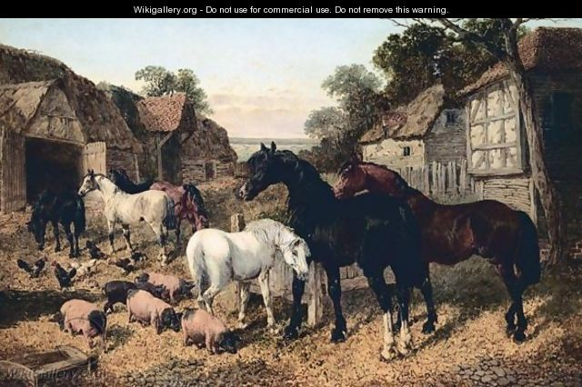 The Old Farmstead - John Frederick Herring, Jnr.