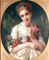 The Flower Girl - Henri Guillaume Schlesinger