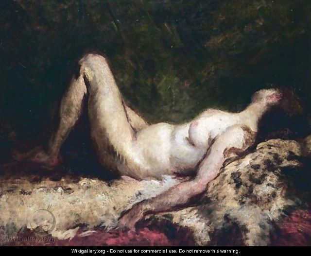 Nude Reclining On Fur - French School