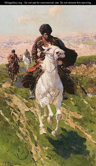 Charging Cossacks - Franz Roubaud