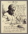 An Illustrated Letter To Mrs St George With Self-Portrait Writing - Sir William Newenham Montague Orpen