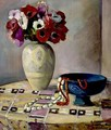 Nature Morte Aux Anemones Et Aux Colliers - Henri Lebasque