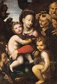 The Holy Family With The Infant Saint John, Saint Anthony Of Padua And A Male Saint - Sienese School