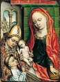 Virgin And Child With A Saint And A Donor - Unknown Painter