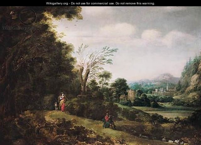 Landscape With Venus, Cupid And Adonis - Gilles Neyts