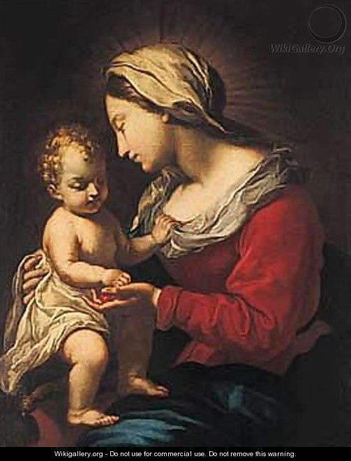The Madonna And Child 5 - Roman School