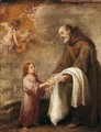 San Felix De Cantalicio With The Infant Christ - Bartolome Esteban Murillo