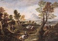 An Extensive River Landscape With An Ambush - (after) Antonio Maria Marini