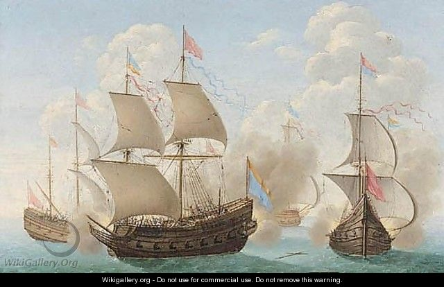 A Naval Engagement - (after) Pierre Puget