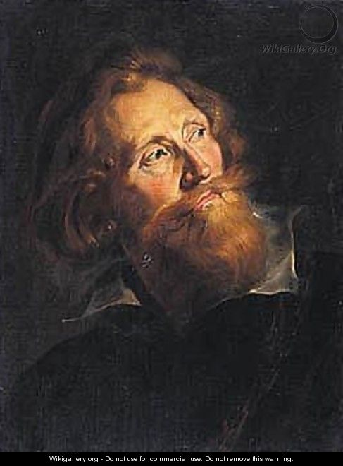Portrait Of A Bearded Man, Head And Shoulders, Wearing Black - (after) Sir Peter Paul Rubens