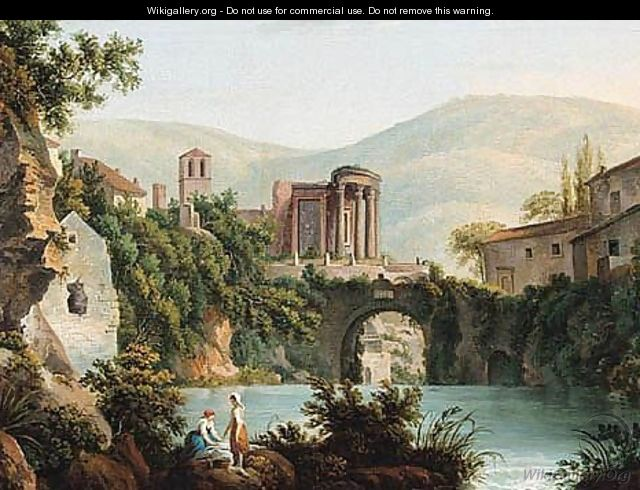 A View Of The Temple Of Vesta At Tivoli - (after) Abraham Louis Rudolph Ducros