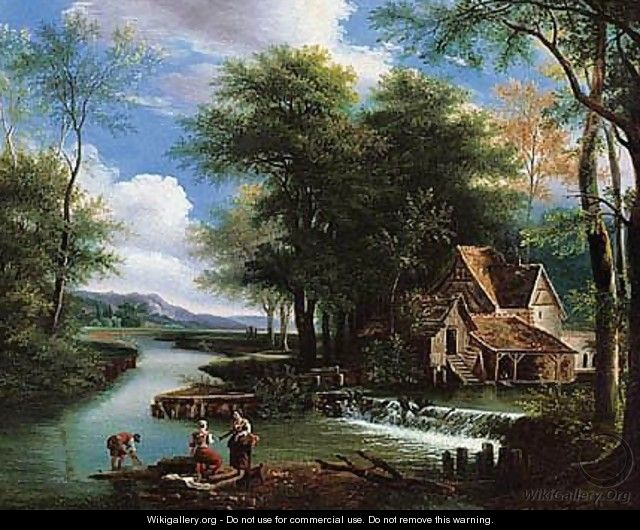 River Landscape With A Mill - (after) Alexandre-Hyacinthe Dunouy