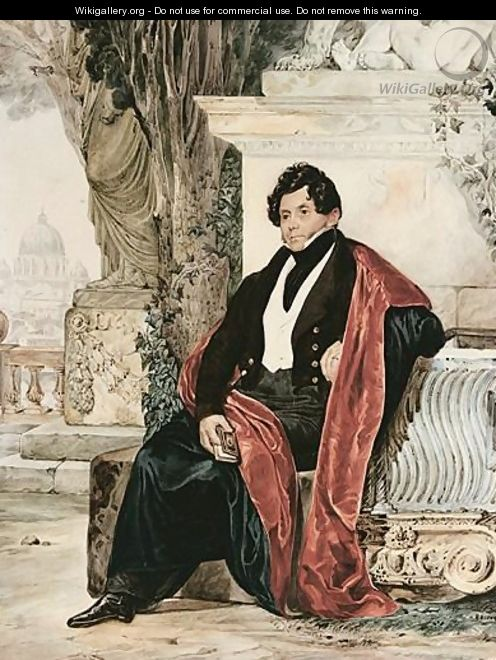 Portrait Of A Gentleman - Karl Briullov
