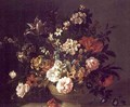 Roses, Tulips and other Flowers in an Urn on a Ledge - (after) Boggi, Giovanni