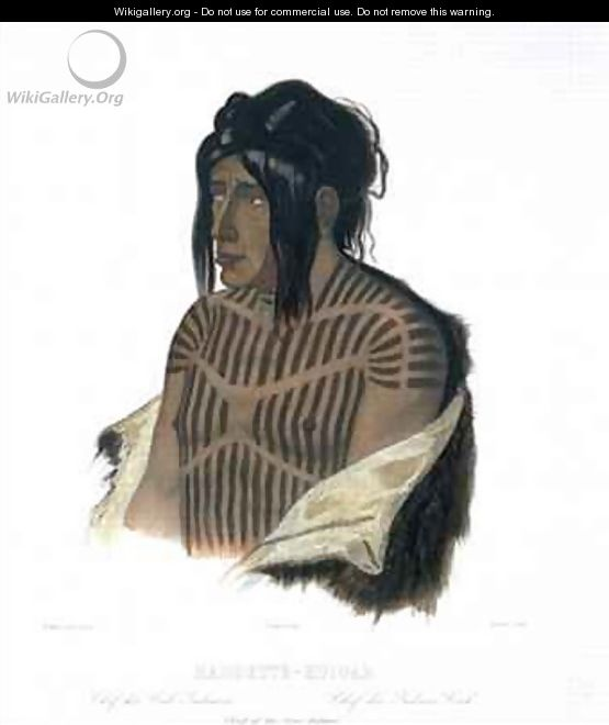 Mahsette-Kuiuab, Chief of the Cree Indians - (after) Bodmer, Karl