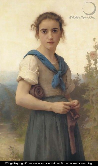 La Tricoteuse - William-Adolphe Bouguereau