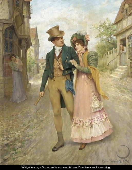 Romantic Era Paintings Of Couples Old-Fashioned Charm: O...