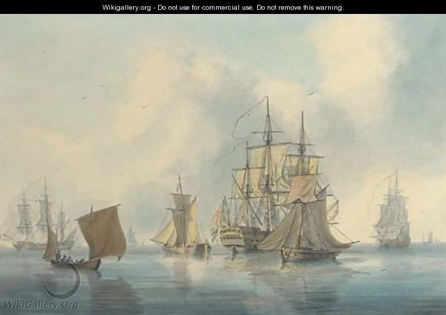 The anchorage at Spithead - William Anderson