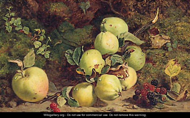 Apples And Raspberries On A Mossy Bank - William B. Hough