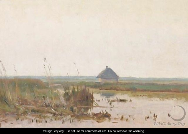 Polder at dusk - Willem Bastiaan Tholen