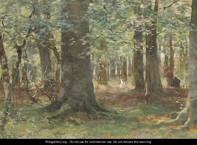 Playing in the woods - Willem Bastiaan Tholen