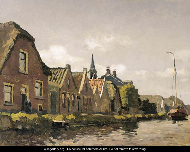 Houses along a canal - Willem Bastiaan Tholen