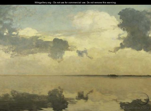Clouds over a calm lake - Willem Bastiaan Tholen