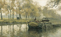A walk along a canal in autumn - Willem Bastiaan Tholen