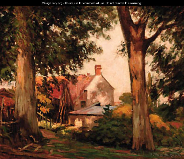 A farmhouse in Holland - Willem Bastiaan Tholen