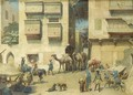 A bustling square in the Orient - Willem De Famars Testas