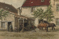 Grooming the horses - Willem Carel Nakken