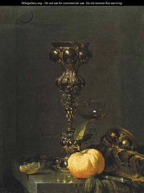 A steeple cup with upturned cover - Willem Kalf