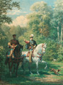 William, Prince of Orange and Henry II, King of France meeting in the Bois de Vincennes, 1559 - Willem De Famars Testas