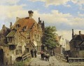 A street scene in a Dutch town - Willem Koekkoek