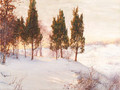 Sunlit reflections in winter - Walter Launt Palmer