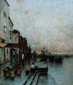 A market on the edge of the lagoon, Venice - Wilhelm von Gegerfelt