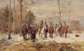 German cavalry in a winter landscape - Wilhelm Velten