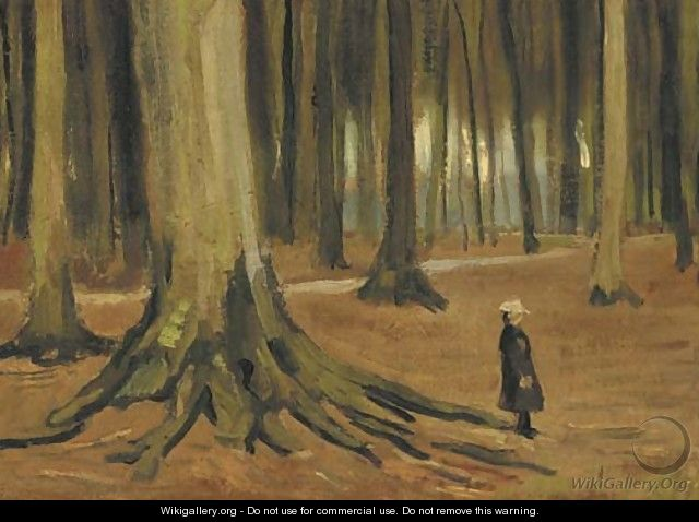 A Girl in a Wood - Vincent Van Gogh