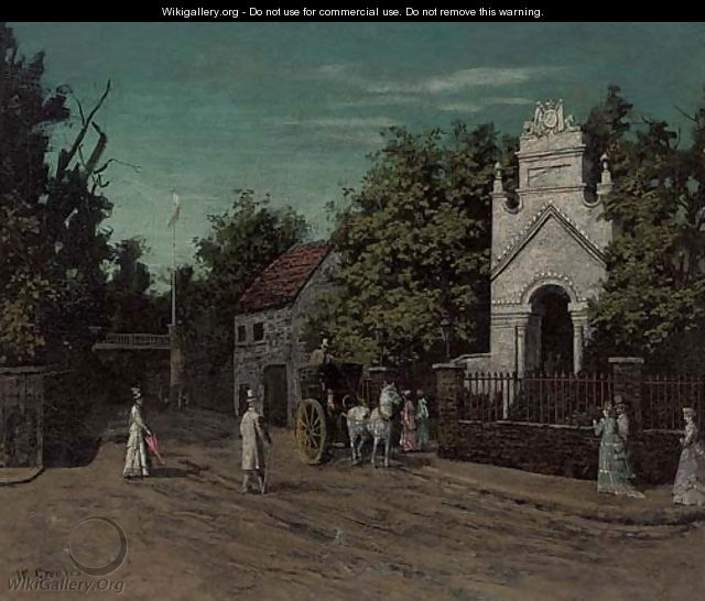 The entrance to Cremorne Gardens, Chelsea - Walter Greaves