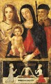 The Madonna and Child with Saint Sebastian and a pilgrim saint - Umbro-Roman School